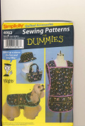 Simplicity Sewing Pattern 4982 - Use to Make - Dog Coat in 3 Sizes, Apron, Hat, and Bag - Sewing Patterns for Dummies