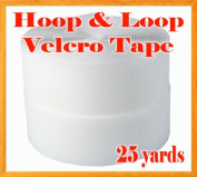 5.1cm Width X 25 Yards (75ft) Sew on Hook & Loop - White Premium Grade Non-adhesive Sew-on Style Sold Includes Hook and Loop Both Side
