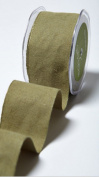 May Arts Cotton Blend Wired Burlap Ribbon - Olive Green - 5.1cm Wide x 10 Yards Long 474-2-16