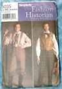 Simplicity the Fashion Historian By Martha Mccain #5035 Mens Size AA