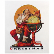 Heirloom Collection Santa At The Globe Counted Cross Stitch -36cm x 47cm
