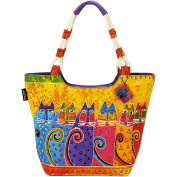Laurel Burch Feline Tribe Scoop Tote Handbag One Size Multi