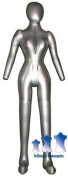 Inflatable Female Mannequin, Full-Size with head & arms Silver