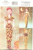 Vogue 7326 Gene Forties Evening Gown Sewing Pattern 39cm Dol