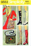 Simplicity 9553 Vintage Sewing Pattern Spats & Bags