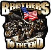 """Brothers to the End"" Skull Back Patch"