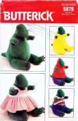 Butterick 5878 Sewing Pattern Stuffed Dinosaur & Clothes