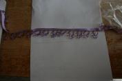 Purple Teardrop Beaded Fringe 11 Yards