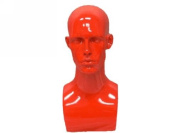 (MD-EraRed) Roxy Display Glossy Red Male Mannequin Head