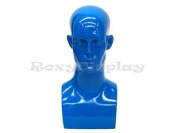 (MD-EraBlue) Roxy Display Glossy Blue Male Mannequin Head