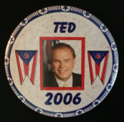 TED STRICKLAND Political Pin Back Button GOVERNOR OHIO 2006