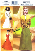 Vogue 7485 Madra Dress Jacket Bag Hood Doll Clothes Sewing Pattern