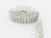 Sparkles Make It Special 3 Row Crystal Rhinestone Ribbon Wedding Cake Banding 3 yard