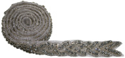 The Buckle Boutique Rhinestone Hand Beaded Braid Trim Embellishments, 1-Yard