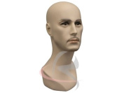 (MD-JackF1) Male Fleshtone Mannequin Head
