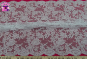 BL-4 140cm Wide Alencon Remembrance Lace Fabric By The Yard