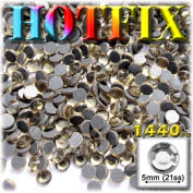 The Crafts Outlet DMC HOTFIX Superior Quality Glass 1440-Piece Round Rhinestones Embellishment, 5mm, Champagne