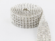 Sparkles Make It Special 5 Row Crystal Rhinestone Ribbon Wedding Cake Banding 2 yard