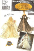 Simplicity 5713 39cm Fashion Doll Clothes / The Wedding 2003