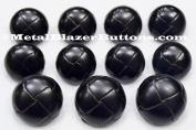 Premium New ~BLACK GENUINE LEATHER~ 11pc Shank Style Sport Coat BLAZER BUTTON SET