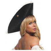 Black Pearl Pirate Pirate Hat Costume Accessory