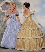 BUTTERICK MAKING HISTORY COSTUME SEWING PATTERN 6195 MISSES' SOUTHERN BELL/CIVIL WAR GOWNS SIZES