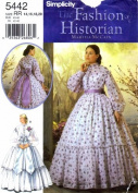 Simplicity 5442 Sewing Pattern Civil War Wedding Dress Reenactment Martha McCain Size 14 - 16 - 18 - 20