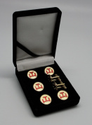 York Rite Royal Arch Triple Tau Masonic Tux Suit Button Cover Set