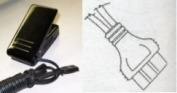 Foot Control with lead cord for Brother most Free Arm, Babylock electronic, Simplicity 3-prong