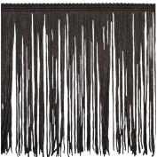 Chainette Fringe P-7045 100-Percent Polyester 15cm Fringe Embellishment, 10-Yard, 06 Brown