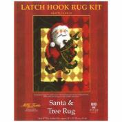 Latch Hook Kit 70cm x 90cm , Santa & Tree