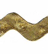 Metallic Rick Rack 2.5cm Wide 24 Yds.-Gold