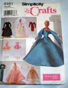 Simplicity Barbie Doll Clothing Patterns Crafts Sewing 11.5 Dolls 8481