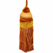 50cm Key Tassel with a 10cm Cord, Burnt Orange