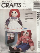 Raggedy Ann & Andy Dolls Pattern - McCall's 8378 or 5567 or 3998 or 712