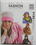 McCall's 4182 Sewing Pattern ~ Misses' Fleece Accessories; Hats, Scarves, Gloves and Mittens, Sizes S-M-L