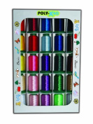 Poly X 40 Embroidery Machine Thread 25 Spool Basic Colours Set