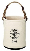 Klein Tools 5109S 6 Canvas with Swivel Snap Hook Wide-Opening Straight-Wall Bucket