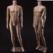 Realistic Standing Male Adult Mannequin (Headless) + Base