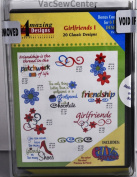 Amazing Designs Girlfriends I Embroidery CD, ADC-63TK