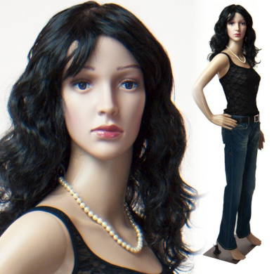 Realistic Standing Female Adult Mannequin + Base + 2 Free Wigs (F-01+2)