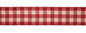 Rustic Red Plaid Wired Floral, Craft and Christmas Ribbon 6.4cm x 60 Yards