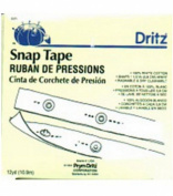 Dritz� White Cotton Tape & Snaps - Size 4/0 12yd