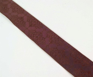 Brown Embroidered Wired Christmas Wedding Party Holiday Ribbon 6.4cm x 60 Yards
