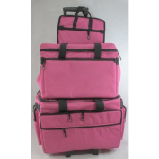 Bluefig 3 Piece Sewing Machine Trolley Set in Pink