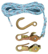 Klein H1802-30SSR Block and Tackle with Guarded Snap and Swivel Hooks and Rope