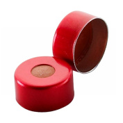 Wheaton 224211-06 Red E-Z Aluminium Seal with 0.002 PTFE/0.038 Red Rubber Liner, 11mm Diameter