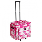 Creative Notions XL Serger Tote in Pink and Grey Floral Print