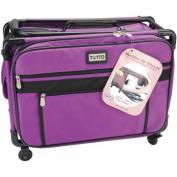 """TUTTO Machine On Wheels Case 50cm x 33cm X9""""-Purple"""