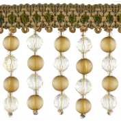 Beaded Trim BB-987-36 5.7cm Acrylic Beaded Trim with 1.3cm Braid, 15-Yard Roll, Chartreuse